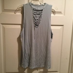 American Eagle Soft & Sexy Baby Blue Top  XL